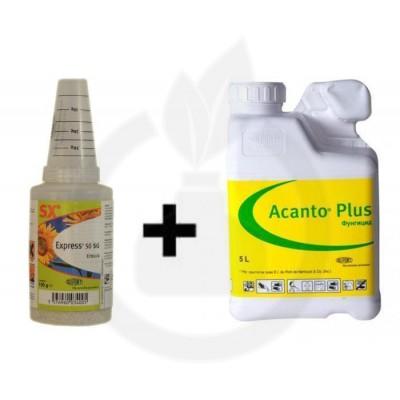 Express 50 SG 0.75 KG + Fungicid Acanto Plus 15 Litri, pachet pentru 25 HA