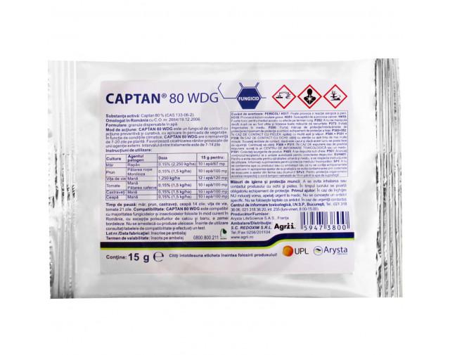 Captan 80 WDG, 15 g