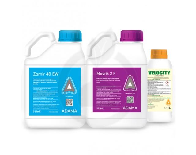 Zamir 40 EW 9 Litri + Mavrik 2F 6 Litri + Adjuvant Velocity 3 Litri, pachet pentru 12 HA