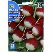 Ridichi Redondo Rojo Punta Blanca, 25 g