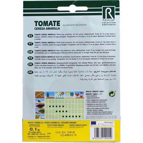 Tomate Cereza Amarilla, 0.1 g