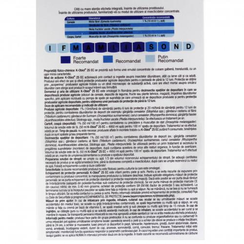 bayer insecticid k obiol ec 25 10 ml - 4