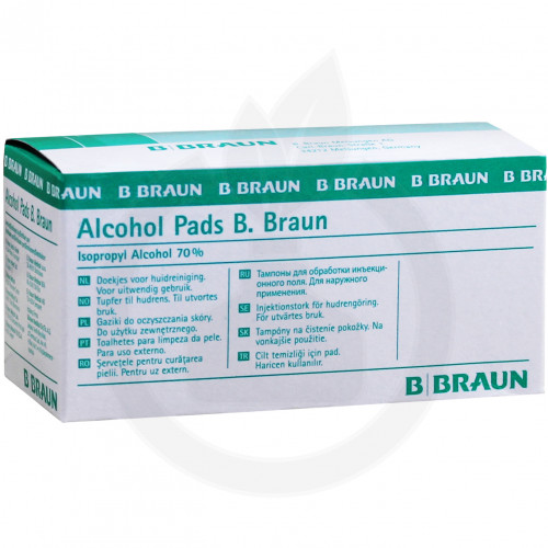 b.braun dezinfectant alcohol pads 100 buc - 1