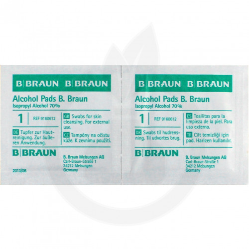 b.braun dezinfectant alcohol pads 100 buc - 2