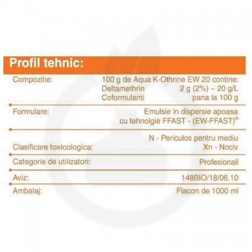 bayer insecticid aqua k othrine ew 20 1 litru - 4