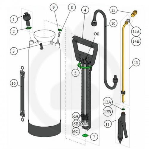 birchmeier aparatura pulverizator spray matic 5p 5l - 7