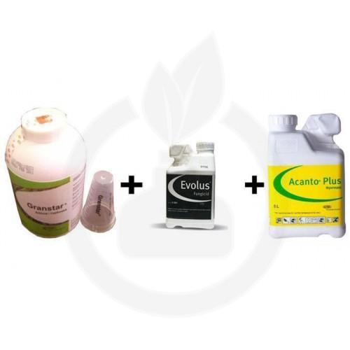 Granstar Super 50 SG 1 KG + Fungicid Evolus 20 Litri + Fungicid Acanto Plus 15 Litri, pachet pentru 25 HA