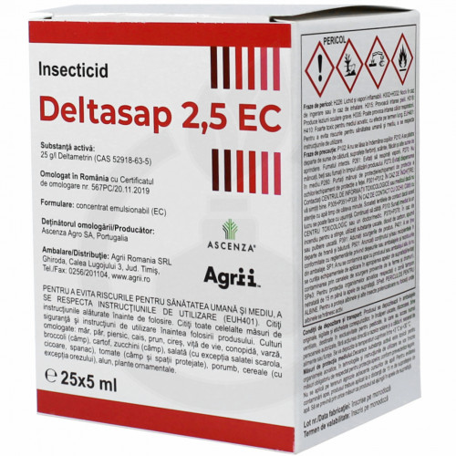 ascenza insecticide crop deltasap 2 5 ec 5 ml - 2