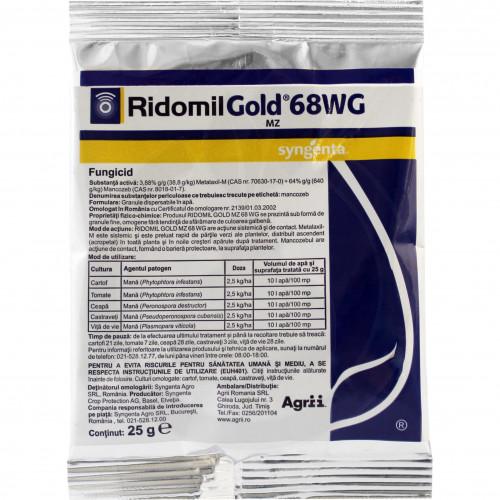 syngenta fungicid ridomil gold mz 68 wg 25 g - 1