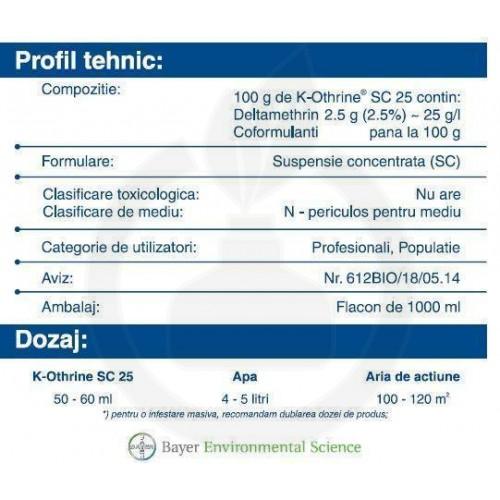 K-Othrine SC 25, 1 litru
