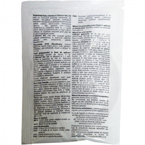 bayer insecticid k othrine wg 250 20 g - 2