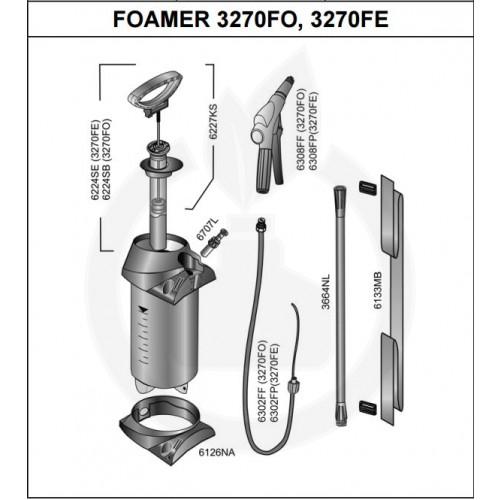 Pulverizator manual Mesto 3270FO Foamer