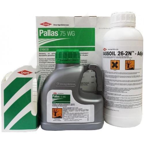 Pallas 75WG 500 g + Adjuvant 1 litru, pachet 2 HA