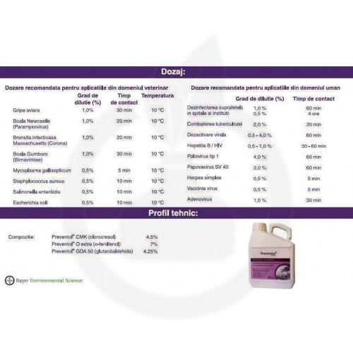 Preventol CD 601, 3 litri