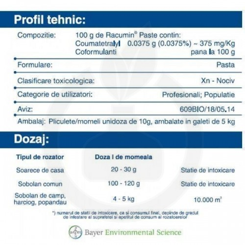 Racumin Paste, 50 kg