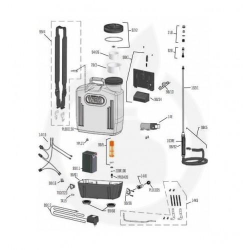 Pulverizator electric Volpi elettroEASY
