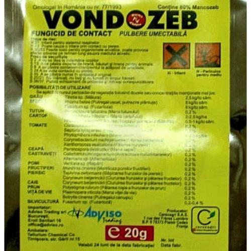 Vondozeb 80 WP, plic 20 g