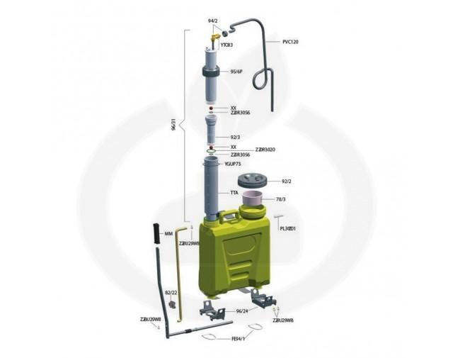 volpi aparatura pulverizator tech12 pompant plastic - 2