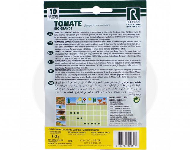 rocalba seed tomatoes rio grande 10 g - 2