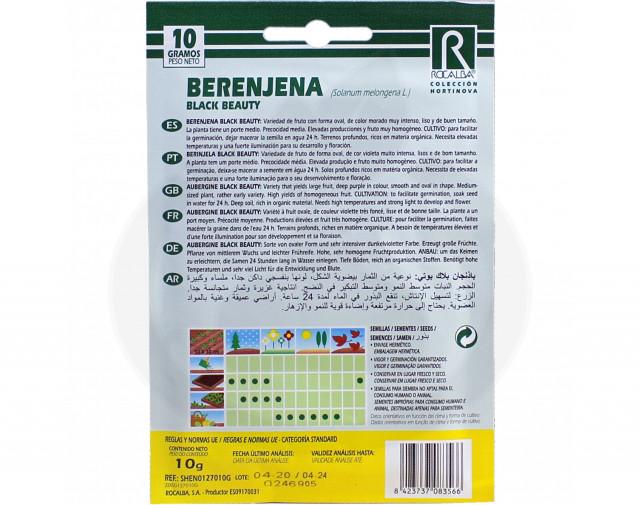 rocalba seed eggplant black beauty 100 g - 2