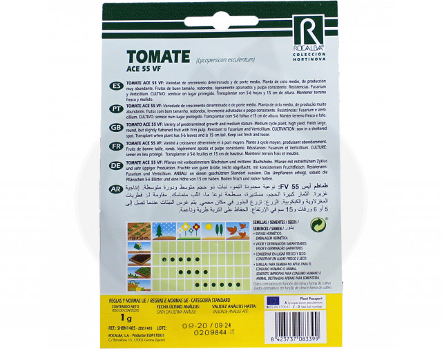 rocalba seed tomatoes ace 55 vf 1 g - 2