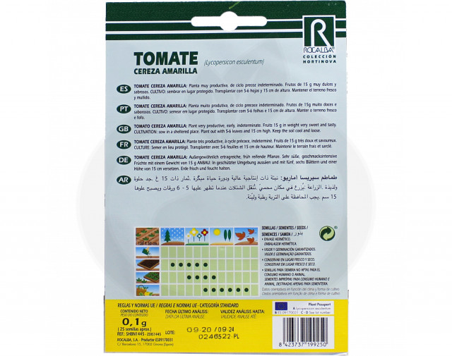 rocalba seed tomatoes cereza amarilla 0 1 g - 2