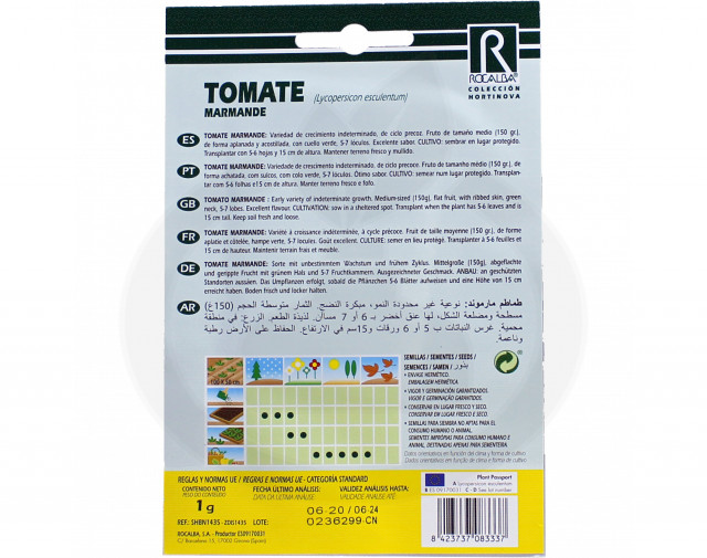 rocalba seed tomatoes marmande 1 g - 2