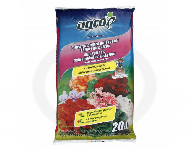 agro cs substrat muscate alte flori balcon 20 litri - 2