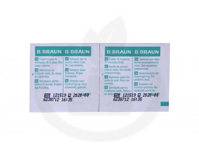 b.braun dezinfectant alcohol pads 100 buc - 3