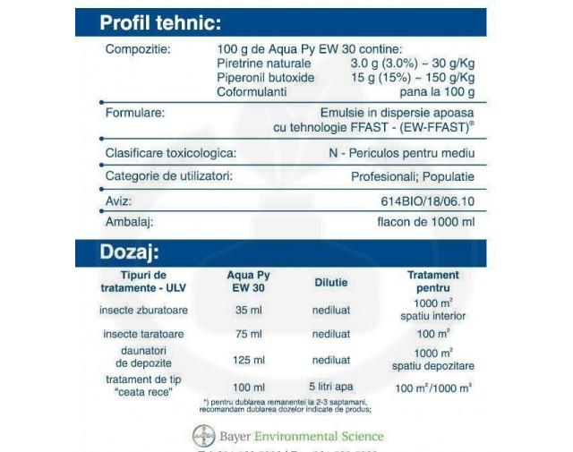 bayer insecticid aquapy ew 30 1 litru - 1