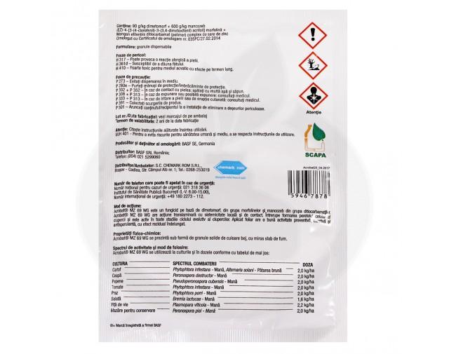 basf fungicid acrobat mz 69 wg 20 g - 3