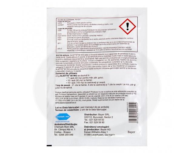 bayer fungicid aliette wg 80 20 g - 2