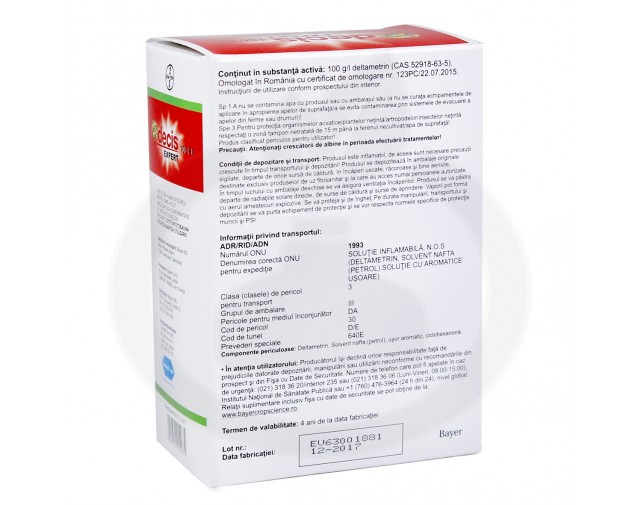 bayer insecticid agro decis expert 100 ec 2.5 ml - 3