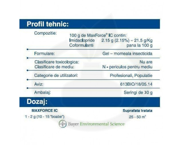 bayer insecticid max force ic gel 30 g - 6