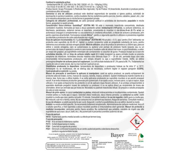 bayer insecticid quick bayt 2extra wg 10 62.5 g - 2