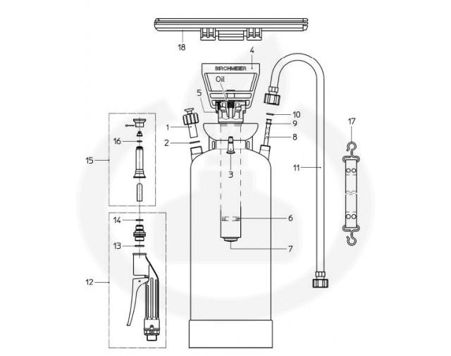 birchmeier aparatura pulverizator foam matic 5p - 9