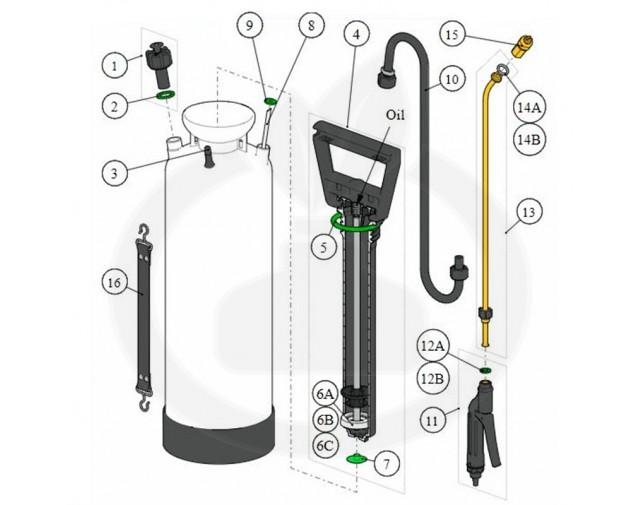 birchmeier aparatura pulverizator spray matic 5p 5 - 6