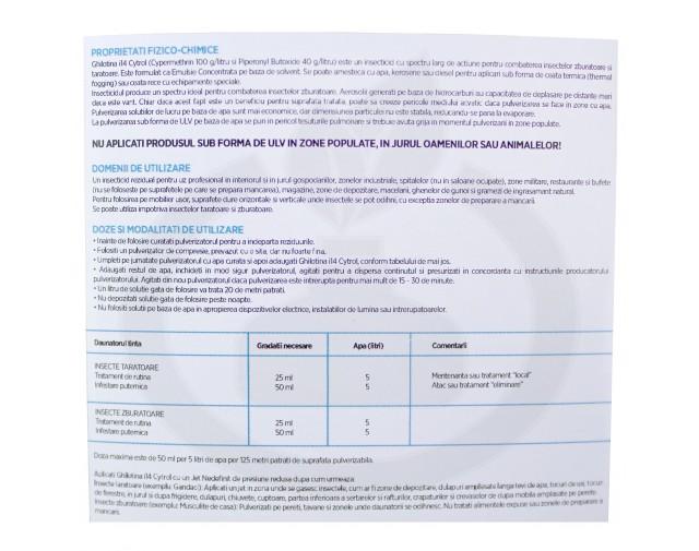 ghilotina insecticid i14 cytrol 500 ml - 4