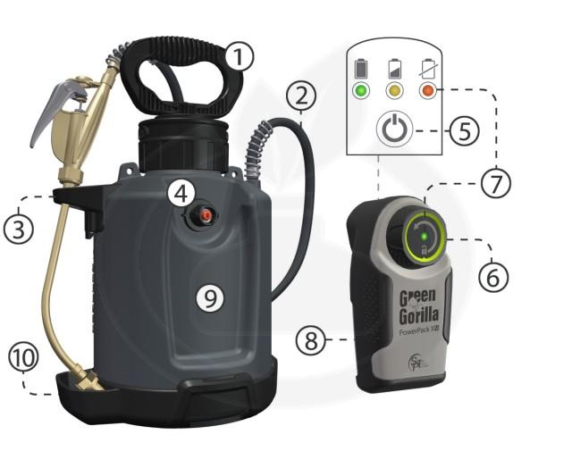 forefront aparatura green gorilla proline vi pro 9.5 litri - 6