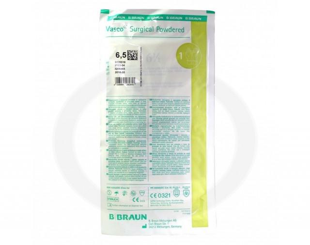 b braun gloves vasco surgical powdered 6 5 2 p - 2