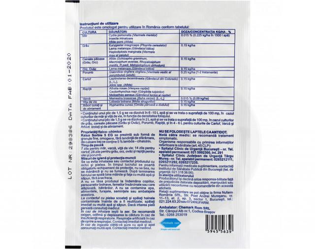 nufarm insecticid agro kaiso sorbie 5 wg 1.5 g - 4
