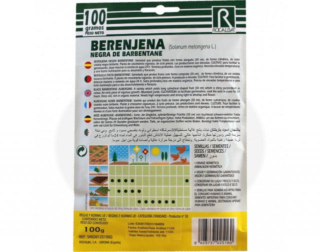 rocalba seed eggplant black de barbentane 3 g - 2