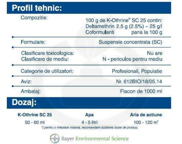 bayer insecticid k othrine sc 25 1 litru - 3