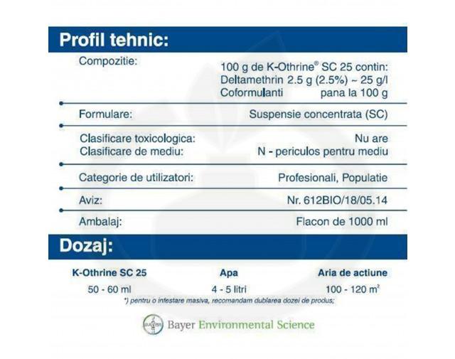 bayer insecticid k othrine sc 25 1 litru - 4