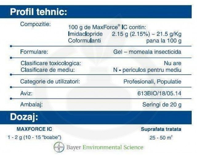 bayer insecticid max force ic gel 20 g cutie - 6