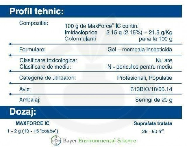 bayer insecticid max force ic gel 20 g - 4