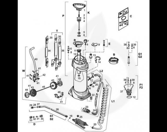 mesto aparatura pulverizator 3615ft inox plus - 2