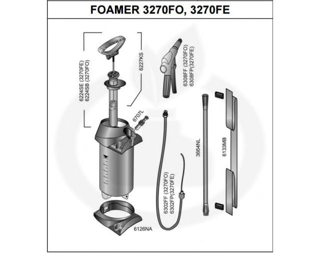 mesto aparatura pulverizator 3270fo foamer - 5