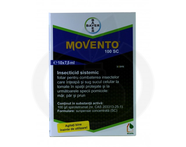 bayer insecticid agro movento 100 sc 7.5 ml - 4