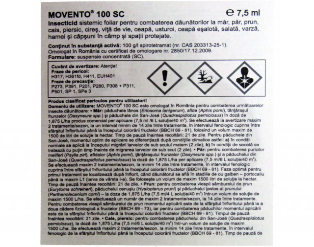 bayer insecticid agro movento 100 sc 1 litru - 3
